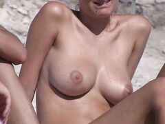 Nudist wife secretly filmed on the beach