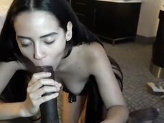 OMG amazing Colombian girl cannot stop cumming getting banged by that black dong