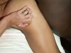 Hot fit spouse wearing high heels pounded from behind by BBC